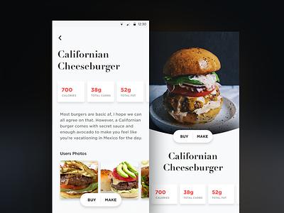 What 2 Eat mobile app design sketch ui design ux typography clean eating food visual ui
