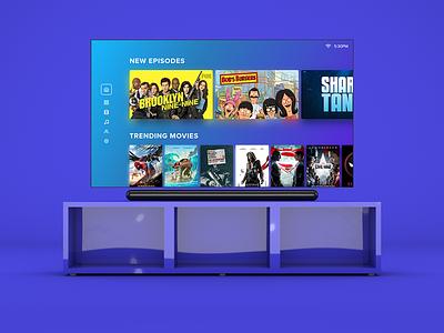 Smart Tv UI Exploration smart tv 3d c4d cinema 4d tv ui