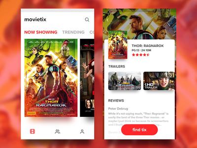 Movie Ticket app concept