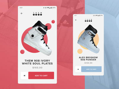 Rollerblade e-commerce exercise geometic clean android negativespace themskates themgoods shopping ecommerce minimal skates action redesign web mobile ux ui rollerblade