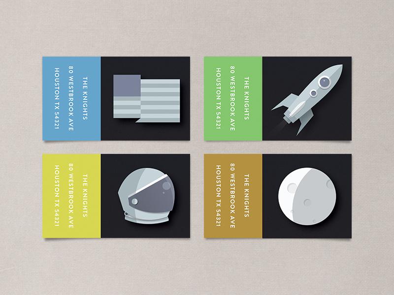 space race address labels space moon rocket astronaut helmet