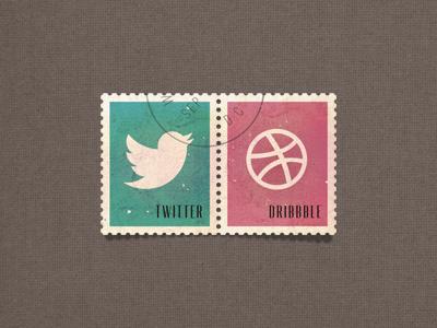 social media stamps stamps twitter dribbble social network