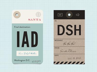 xmas tags that look like luggage tags holiday christmas santa gift gift tag whimsical typography