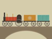 vintage holiday train