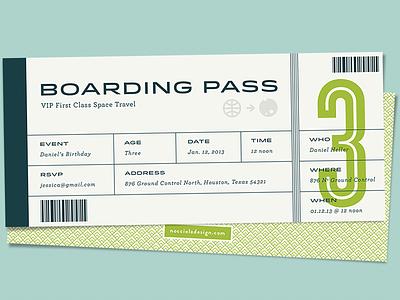 spaceship boarding pass space boarding pass child birthday invite typography