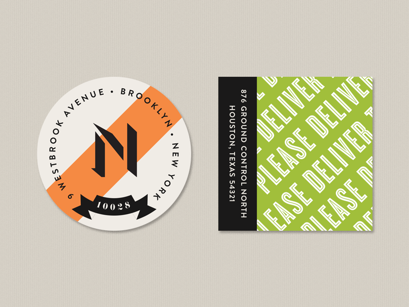 some return address labels seals typography color simple modern address post