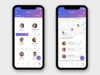 iPhone x - Contact concept app iphone x trip business trip contact flight clean interface ux ui