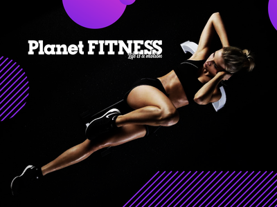 Planet Fitness Logo design & branding gym sport women woman jim brand logo gym fitness