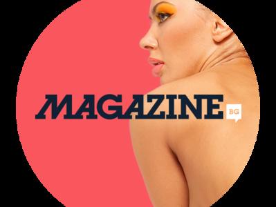 Magazine.bg 2019 trend moda news site colorful women design branding brand web logo