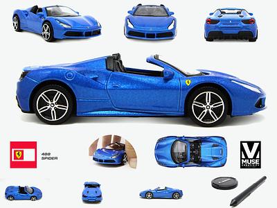 Photography editing Ferrari toy car photo editing blue photography photo cars super car car ferrari