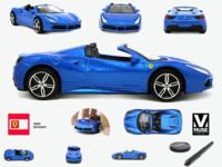 Photography editing Ferrari toy car