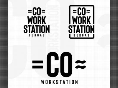 COWORKSTATION Logo design co work station branding design logo