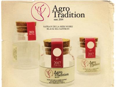 Safran Branding Agro Tradition stickers lables pakaging logo design branding saffron