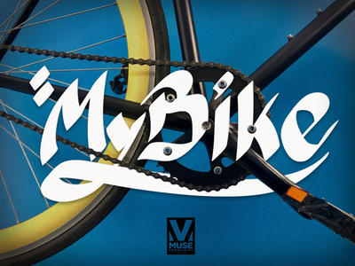My Bike & Typo from Muse Cr wacom tablet drawing iphone photography single speed ride muse pen draw tablet bike creative photoshop edit photo typography design