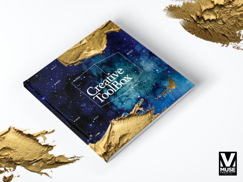 Print Guide Catalogue mock-up paper acrylic gold space graphic design printdesign design agency print