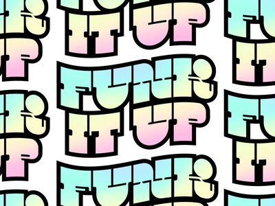 Funk It Up Sticker thin thick vintage serif slab wordmark 80s 70s funky typography sticker