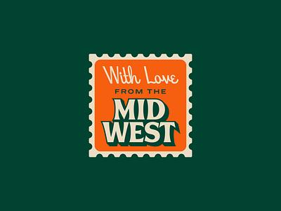 With Love hoodfonts vintage icon emblem badge letter postage wordmark script serif palette color fonts branding midwest sticker stamp logo