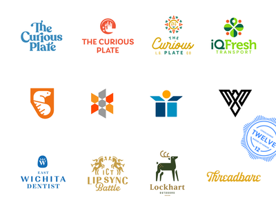 LogoLounge 12 Winners 12 book logolounge type food animal cllection palette color typography wordmark design icon branding brand logo