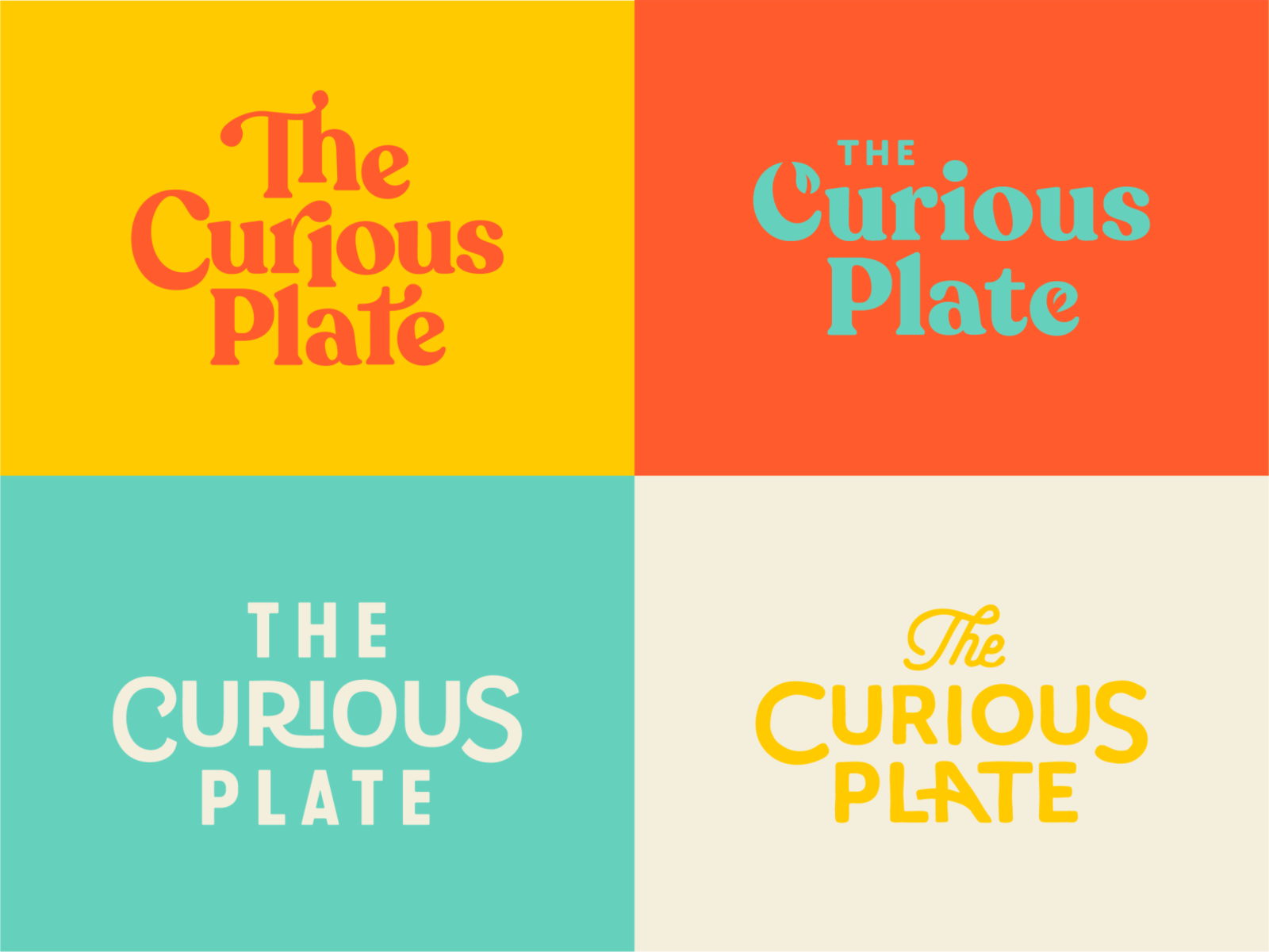 Food Blogger Typography leaf funky blog palette color logo logotype wordmark food plate vintage fonts type lettering typography