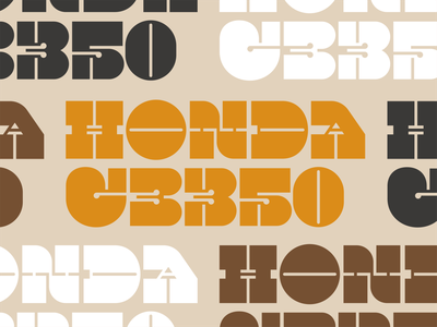 Honda CB350 branding wordmark logo thin thick font slab serif lettering typography cb350 70s vintage motorcyclist motorcycle cafe racer