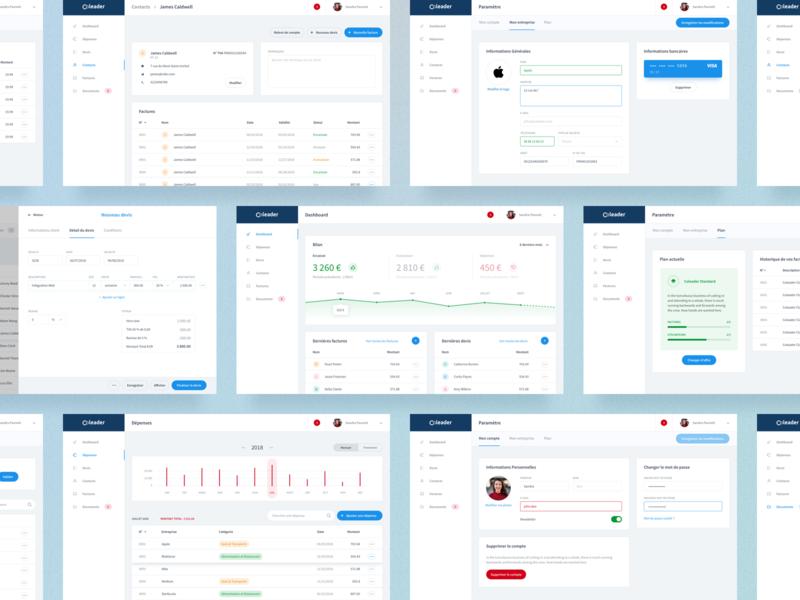 Coleader - Billing tool design ux billing invoice product design ui dashboard