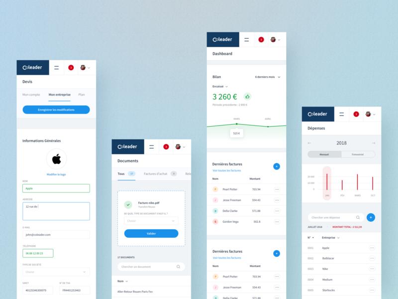 Coleader - Billing tool billing invoice design product ux ui dashboad