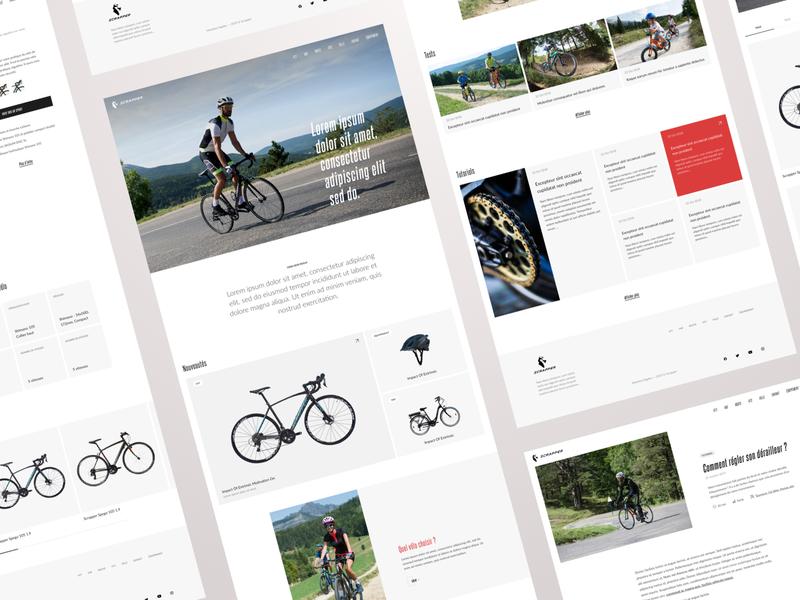 Scrapper - Showcase site design ui e-commerce showcase bicycle shop bike scrapper