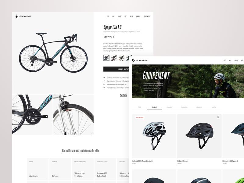 Scrapper - Showcase site ui showcase scrapper e-commerce design bike bicycle shop