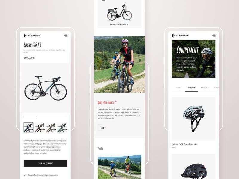 Scrapper - Showcase mobile site mobile ui showcase scrapper shop e-commerce design bike bicycle shop