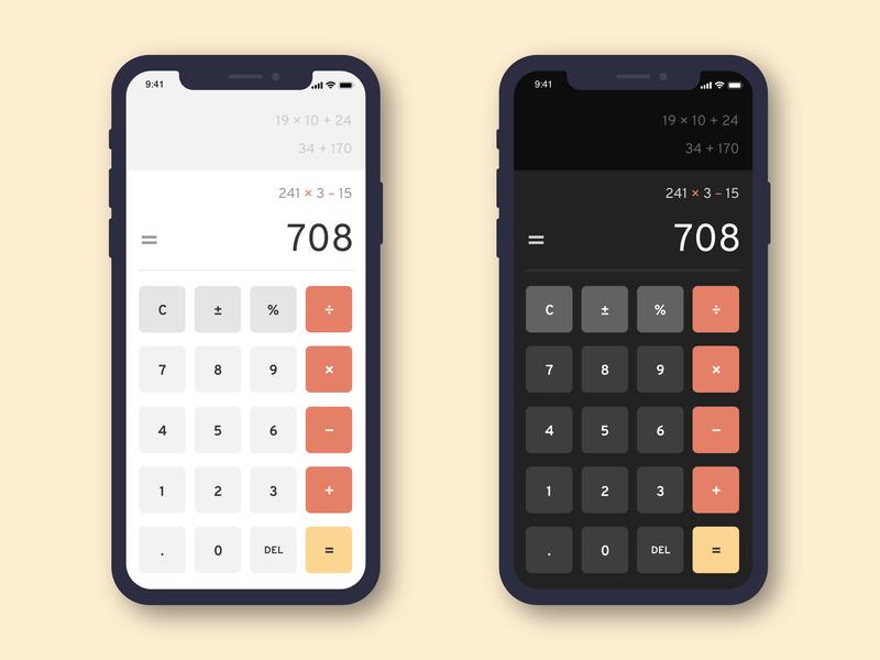 Calculator digital mockup redesign calculator app calculator ui calculator app ux ui design dailyui
