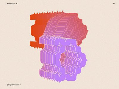 36 Days of type - Letter D typedesign visualdesign letter lettering fontdesign type design vector illustration typography graphic design