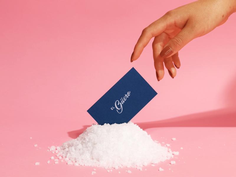 El Güero Business Card brand restaurant photography set design graphicdesign identity logo branding