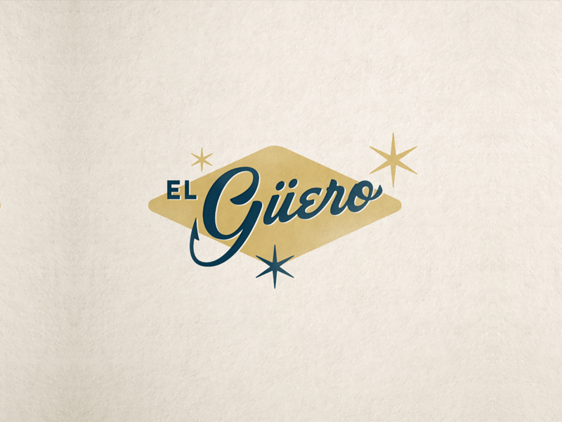 El Güero Logotype san diego seafood logo design tijuana logotype mark branding restaurant brand logo