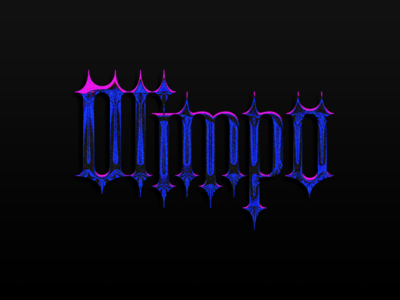 Olimpo Lettering effect title brand photoshop texture san diego tijuana graphicdesign chrome lettering