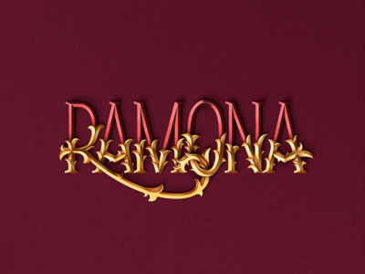 Lettering_ Ramona vector graphicdesign lettering
