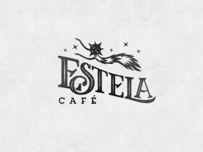 Logo_ Estela brand coffee vector graphicdesign lettering