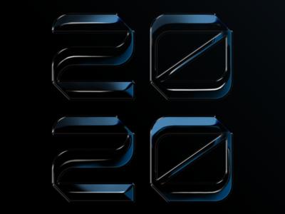 2020 Lettering san diego 2020 chrome lettering