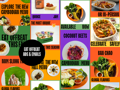 Eat Offbeat Ads & emails sticker figma food catering restaurant email marketing email ad creative ad design ad mobile daily ui