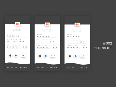 DailyUI - 002 - Checkout checkout screens ui signup dailyui