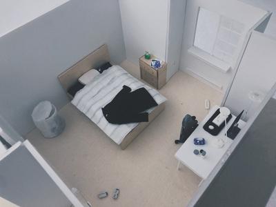 Room Model material bedroom room handmade 3d model design