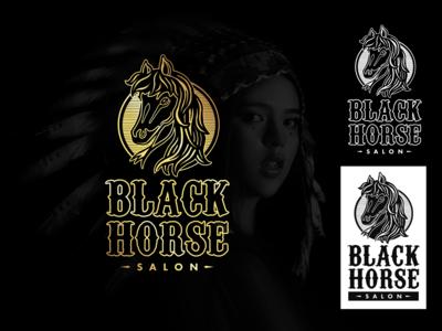 Black Horse Salon Logo