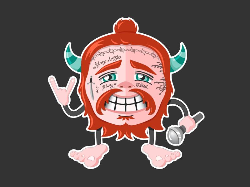 Post Malone 'Posty Monster' fan art posty post malone