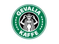 Queen Gevalia dressed up as Starbucks