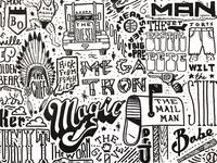 Sports Nicknames Doodle