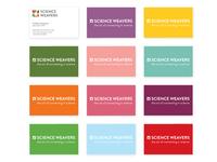 Science Weavers business card designs