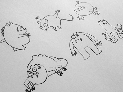 Monsters illustration monster monsters cartoon characters draw drawing