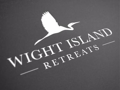 Wight Island Retreats logo branding egret
