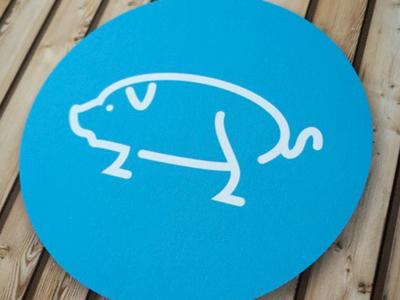 Pig illustration animal icon