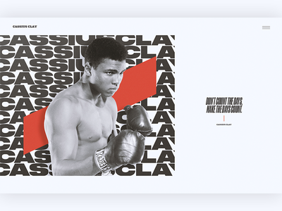 Cassius Clay ui layout typography