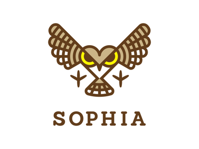 SOPHIA sayapin саяпин logo knowledge skill sophia love philosophy wisdom symbol owl